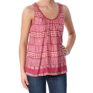 Lucky Brand Womens Striped Knit Blouse